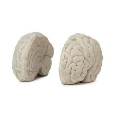 Watch your mind expand as your hardcover collection grows with this set of brainy bookends.
