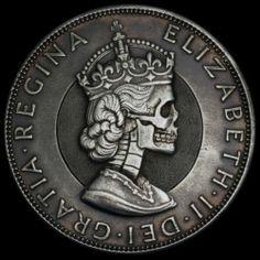Hand Carved Engraved Silver Elizabeth 1 Crown Hobo Nickel Skull SB Seth Basista   eBay