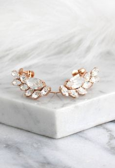 Climbing Earrings Bridal Earrings Rose Gold Climbing