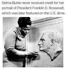 Selma Burke never received credit for her portrait of President Franklin D. Roosevelt, which was later featured on the US dime. Selma Burke never received credit for her portrait of President Franklin D. Roosevelt, which was later featured on the US dime. Black History Quotes, Black History Facts, Strange History, Funny History Facts, The More You Know, Look At You, Selma Burke, Angst Quotes, Quotes Quotes