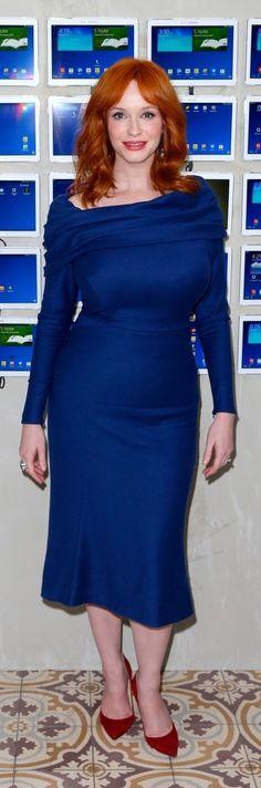 Christina Hendricks In Zac Posen – Variety Studio 30/05