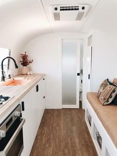 20 Best Tiny House Living 2018 Tiny residential building 8 Tiny Living Ltd. has a charming mini house onThe Modern Tiny Living apartment for Likes 24 Comments Living Tiny Project on Airstream Remodel, Airstream Renovation, Airstream Interior, Home Renovation, Campervan Interior, Airstream Trailers, Bus Living, Tiny House Living, Living Room