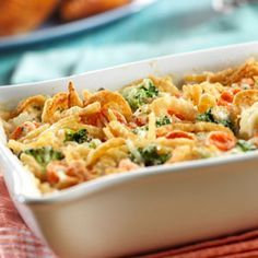 Swiss Vegetable Casserole A twist on the traditional green bean casserole. Veggie Casserole, Greenbean Casserole Recipe, Casserole Recipes, Noodle Casserole, Casserole Dishes, Mushroom Casserole, Cauliflower Casserole, Mixed Vegetable Casserole, Lasagna Recipes