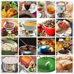 40+ fondue recipes (some savory, some sweet)