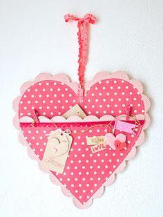 Hartje met een zakje, leuk voor valentijn!