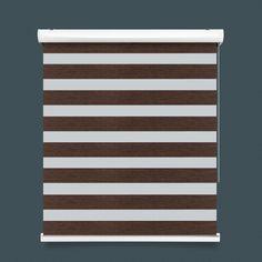 Dark Brown Mix Two Tone Zebra Blind