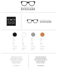 Big Rapids Family Eyecare / Eye Doctor / Optometry : Brand Style Guide : Logo, Icon, Mark, Logotype, color palette, fonts
