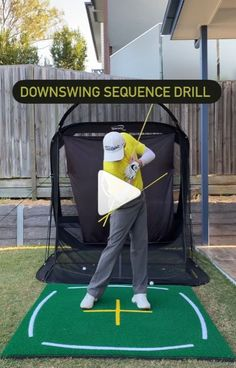 Hitting It Solid shares with you a great downswing sequence drill to improve your golf swing. Golf Downswing, Perfect Golf, Golf Training, Golf Tips, Golf Ball, Drill, Baby Strollers, Improve Yourself, Community