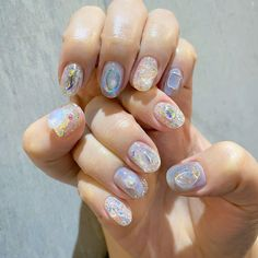Korean Nail Art, Korean Nails, Trendy Nails, Cute Nails, My Nails, Soft Nails, Nail Inspo, Nails Inspiration, Nail Colors