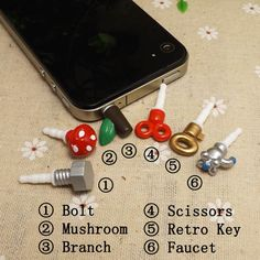 Hey, I found this really awesome Etsy listing at http://www.etsy.com/listing/113905300/6pcs-creative-branch-bolt-anti-dust-plug