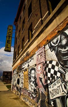 I would love to travel to Detroit, because once again, the street art in this city blows my mind. A large portion of the city is run down and abandoned, which turns any vacant building into a giant canvas.