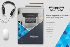 Multipurpose Brochure Template by Addaxx on @creativemarket
