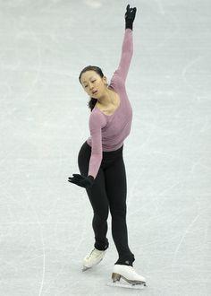 Asada Mao, of Japan, skates during a training session at the ISU Figure Skating Grand Prix Final event, at Iceberg stadium in Sochi, Russia, on Thursday, Dec. 6, 2012.