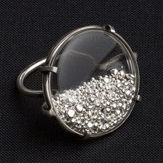 Live the magic! Glass ring with pure silver nugget!!! ✨// Ann Demeulemeester
