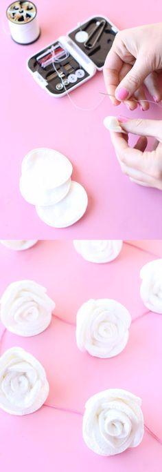 Guirnalda de rosas DIY