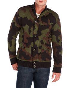 Camo Sweater Jacket