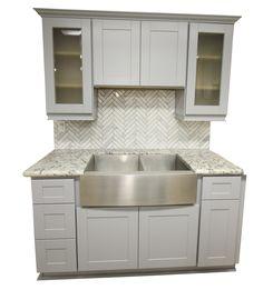 Ash Gray Shaker Kitchen Cabinets Kitchen Cabinets Remodel - Ash kitchen cabinets