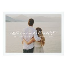 Romantic SAVE OUR DATE Custom Photo Portrait Picture YOU CHOOSE Save the Date Wedding Invite Announcement Invitation #wedding #invitation