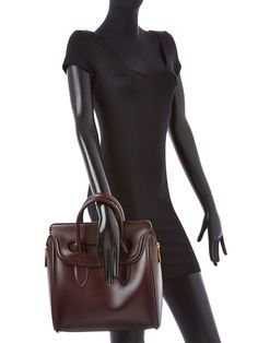 Heroine Leather Large Satchel by Alexander McQueen at Gilt
