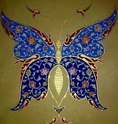 Explore amazing art and photography and share your own visual inspiration! Islamic Art Pattern, Pattern Art, Illumination Art, Inspiration Art, Iranian Art, Turkish Art, Islamic Art Calligraphy, Butterfly Art, Butterflies