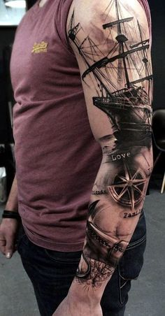 Tattoo Sleeve Ideas and Designs (2) #samoantattoossleeves