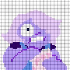 Amethyst Steven Universe Perler Bead Pattern