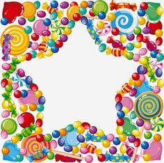 illustration of a candy star Frame Clipart, Art Clipart, Clipart Images, School Frame, Birthday Clipart, Birthday Frames, Borders For Paper, Paper Frames, Note Paper