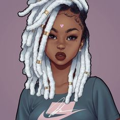 Sexy Black Art, Black Love Art, Black Girl Art, Black Is Beautiful, Drawings Of Black Girls, Black Girl Cartoon, Black Anime Characters, Black Art Pictures, Natural Hair Art