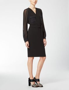 Max Mara PORDOI schwarz: Kleid aus Cady. Find your outfit on the Official Max Mara Website and discover all that is new in ready-to-wear.