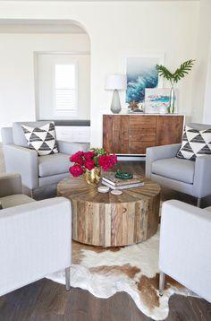 Gorgeous coastal modern seating area. Take a peek into a newly designed Southern California interior!