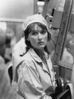 Meryl Streep in Silkwood (1983)  The story of Karen Silkwood, a metallurgy worker at a plutonium processing plant who was purposefully contaminated, psychologically tortured and possibly murdered to prevent her from exposing blatant worker safety violations at the plant.