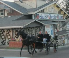 Heini's Cheese Chalet is located in the heart of Ohio's Amish Country. It is known not only as Holmes County's top place for cheese, but one if the nations best. Amish Country Ohio, Amish Farm, Amische Quilts, Berlin Ohio, Amish Culture, Holmes County, Amish Community, The Buckeye State, Horse And Buggy