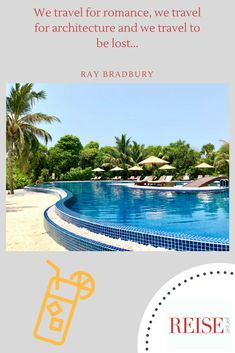 #travelquotes #reiseaktuell #reise #travel #quote #maldives #sea #sun #hot #summer #reisen #indischerozean #palmen #strand #beach #drink #water #pool #raybradbury #romance #architectue Water Aesthetic, Water Quotes, Drinking Water, Travel Quotes, Maldives, Us Travel, Strand, Romance, Romantic