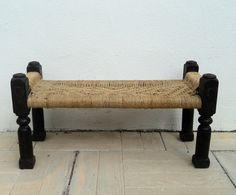 Banco de madera y cuerda. Luniqueblog.com