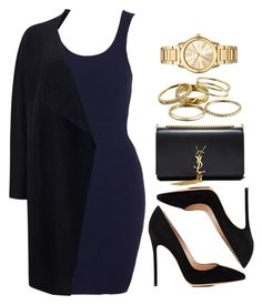 """Sin título #12219"" by vany-alvarado ❤ liked on Polyvore featuring Gianvito Rossi, Phase Eight, Yves Saint Laurent, Kendra Scott and Michael Kors"