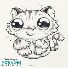 https://flic.kr/p/CwtAaL | Hover Cat!  #morningscribbles