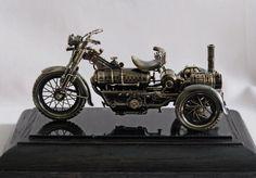 Steampunk Motorcycle Model Steampunk Motorcycle, Automotive Art, Bike, Vehicles, Weapons, Sculpture, Models, Image, Junk Art