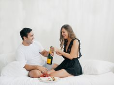 toast to your love #cheers #champagnetoast couples boudoir anniversary celebration