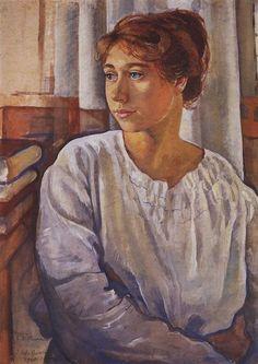 Portrait of E.I. Finogenova, 1920 - Zinaida Serebriakova