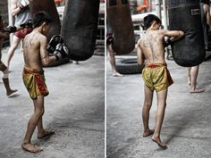 this kid is a straight ganster.... learning muay thai and tatt'ed up old school style!!!