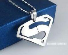 Mens Fashionable S logo Titanium Steel Pendant Necklace