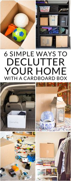 Need to declutter and organize? These easy tips use nothing but a cardboard box to keep your home organized and clutter free. 6 expert tips for decluttering your home from a military spouse who has moved 8 times! Sponsored.