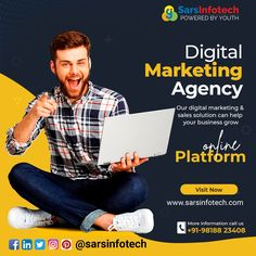 Social Media Marketing Companies, Online Marketing Services, Sales And Marketing, Marketing Digital, Content Marketing, Social Media Banner, Social Media Design, Instagram Banner, Creative Business