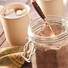 Cappuccino Dry Mix Coffee Creamer - 1 cup powdered nondairy creamer, 1 cup instant chocolate drink mix,1/2 cup sugar, 1/2 tsp ground cinnamon, 1/4 tsp ground nutmeg - Combine all ingredients. Store in airtight container. Makes 3 cups dry mix. Use about 3 tbs per cup. **** Tastes pretty good actually!