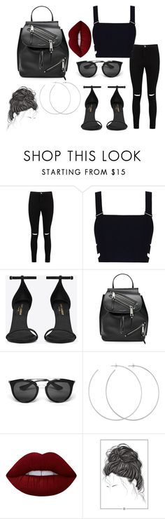 """""""Untitled #2217"""" by sv-c ❤ liked on Polyvore featuring Boohoo, Zimmermann, Yves Saint Laurent, Marc Jacobs, Prada, Allison Bryan and Lime Crime"""
