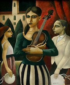 Ensemble by Scottish Contemporary Artist Ian McWHINNIE