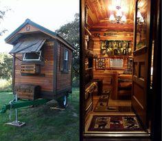 A self-build tiny cabin