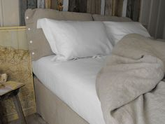 Rough Linen™ bed makeover