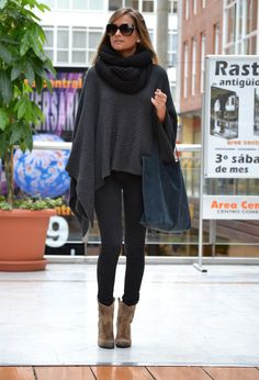Layer Up this Autumn with fantastic Ponchos For Chilly Autumn Days - Mandy's Heaven http://mandysheaven.co.uk/collections/tops/products/poncho-jumper