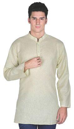 0327ba474 Maple Clothing Indian Clothing Fashion Shirt Mens Short Kurta Cotton India  Dress